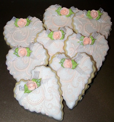 100_2450 Bridal shower heart cookies  / wedding cookies