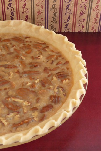 Pecan Pie Ready for Baking