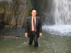 JPO2 at Eaton Canyon Falls (Mr. Muddy Suitman) Tags: tie canyon falls suit jeans eaton wetlook