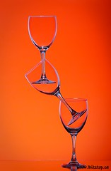 Kitchen Tricks (Karen_Chappell) Tags: stilllife orange glass table glasses stack balance wineglass delicate tabletop tpc glassware tpcu3 tpcu3l3 tpcu7