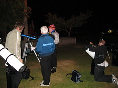 Setting up the telescopes
