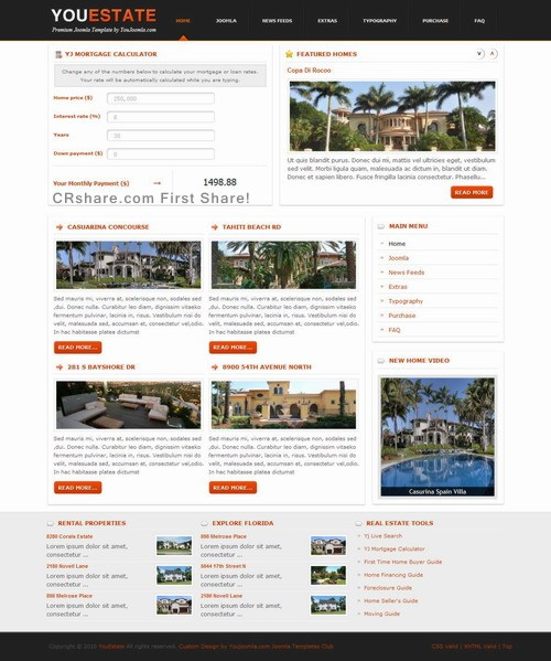 Youestate   Real Estate Joomla Template