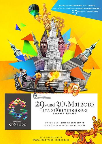 Das Stadtfest St. Georg Plakat 2010