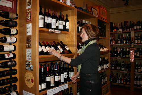 Bronwyn Dunne at Village Wine and Coffee wine tasting