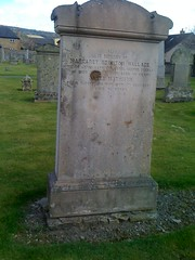Wallace and Mathison Grave at Cross Kirk, Peebles