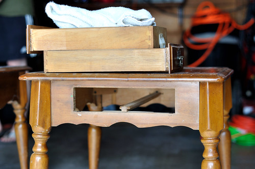 """""""old"""" end tables"""