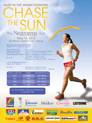 Chase the Sun Neutrogena 2010 race results