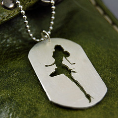 Pinup Girl Army Tag (Markhed) Tags: dog fashion silver army tag id style jewelry retro jewellery sterling pinup personalized 925 centerfold customizable
