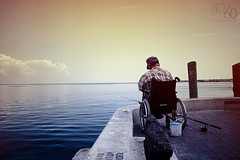 View from the pier Explored! (Kevin Conor Keller) Tags: ocean fish water canon stpetersburg pier fishing fisherman dock gulf florida wheelchair 1855mm stpete 4060 550d t2i fortysixty