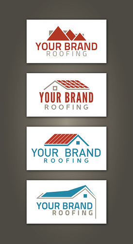 Set of free roofer and roofing contractors logo design samples by Horia Varlan