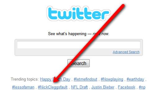 Twitter & #nickcleggsfault