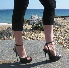 Platform Stiletto Sandals by RoSa Shoes (RoSa Shoes) Tags: sea sun black beach leather high italian shoes toes highheels sandals platform rosa platforms strappy strappysandals rosashoes sarahofrosa rogerandsarahadams thinheels