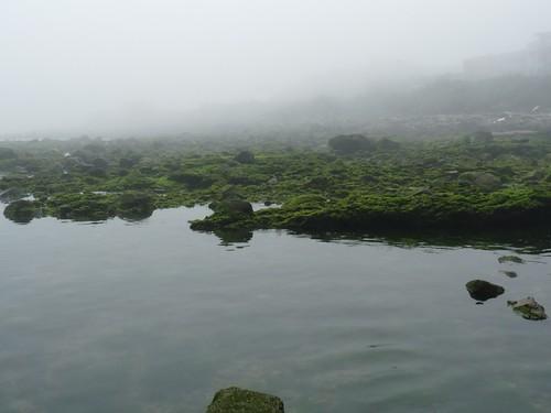 海霧讓景色完全無法看到