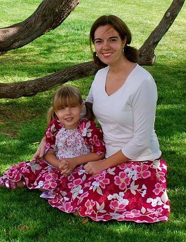 Sewing Mom and Daughter outfits