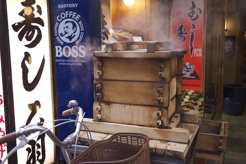 Mushi zushi (steamed sushi) steamer