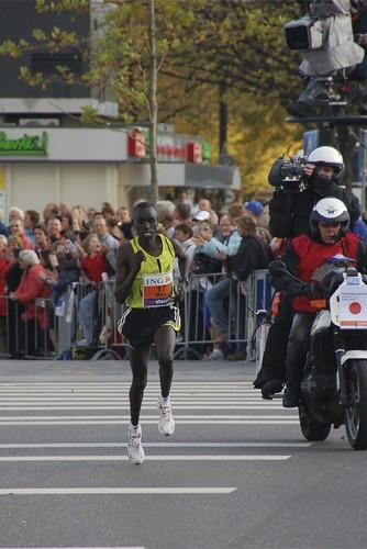 winnaar marathon van Amsterdam 2007 Immanuel Mutai