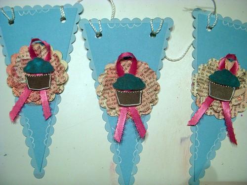 Cupcake Banner Bunting Pendants