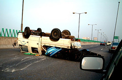 Wipe Out! (cowyeow) Tags: china danger dangerous accident guangdong oops fail