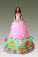 BARBIE SPRING CAKE (Gellyscakes) Tags: flowers cake spring barbie