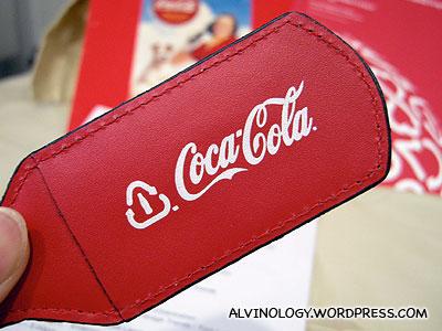My Coca-Cola luggage tag