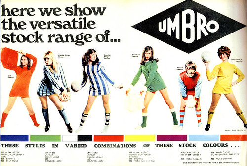 Umbro's original 1960's advertisement that inspired the current WAG's campaign.