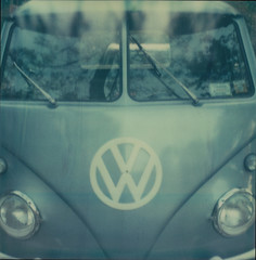 (jeffreywithtwof's) Tags: reflection classic film jeff vw analog truck volkswagen polaroid sx70 lights pickup retro van windshield hutton wipers 2010 flatbed atz instantfilm sx70alpha1 roidweek jeffhutton integralfilm artistictz jeffhuttonphotography jeffreyhutton
