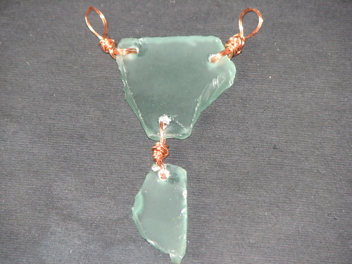 Sea Glass Charm Necklace 009
