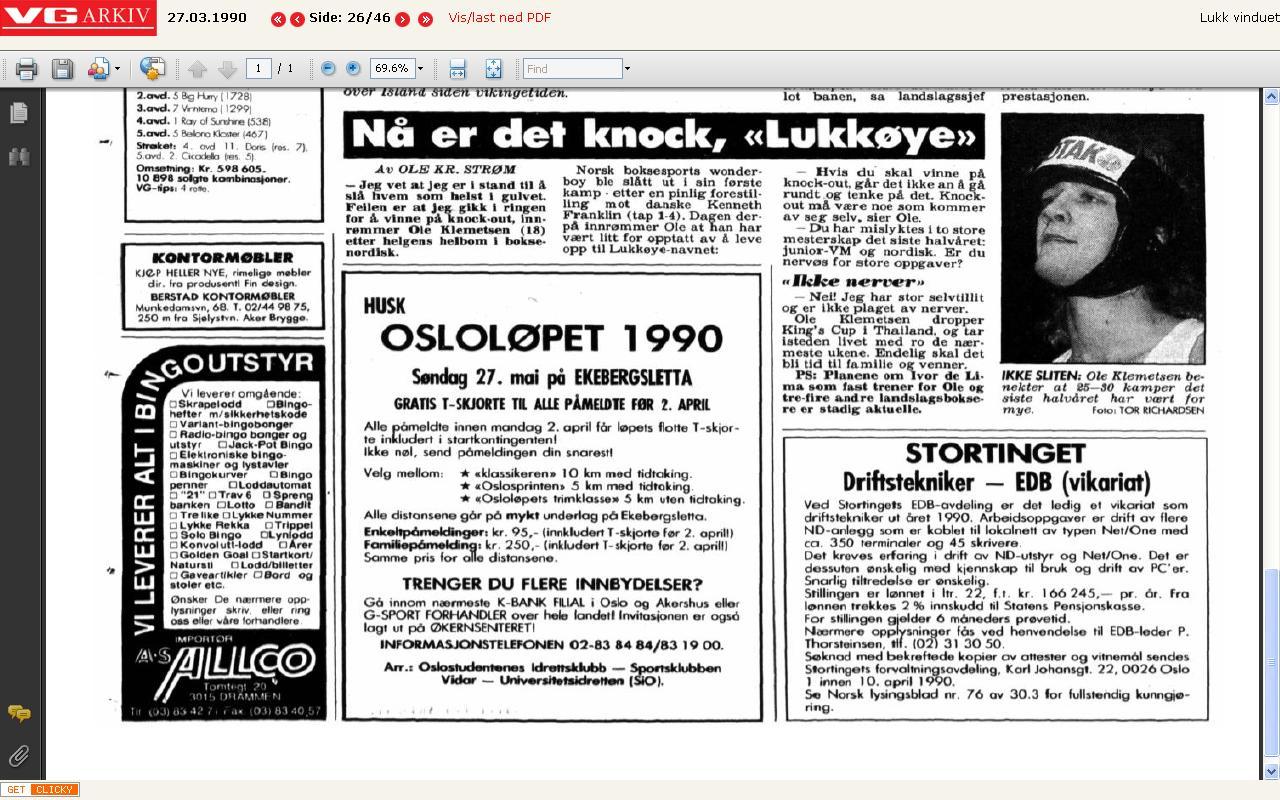 osloløpet 1990
