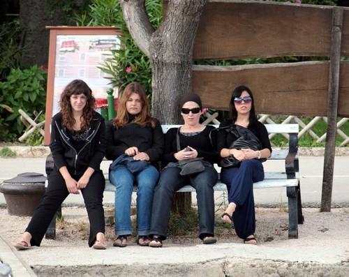 At bus stop