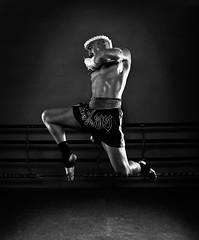 Muay Thai - Flying Knee by MatthewMoore