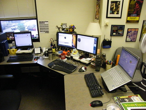My office desk - May 2010