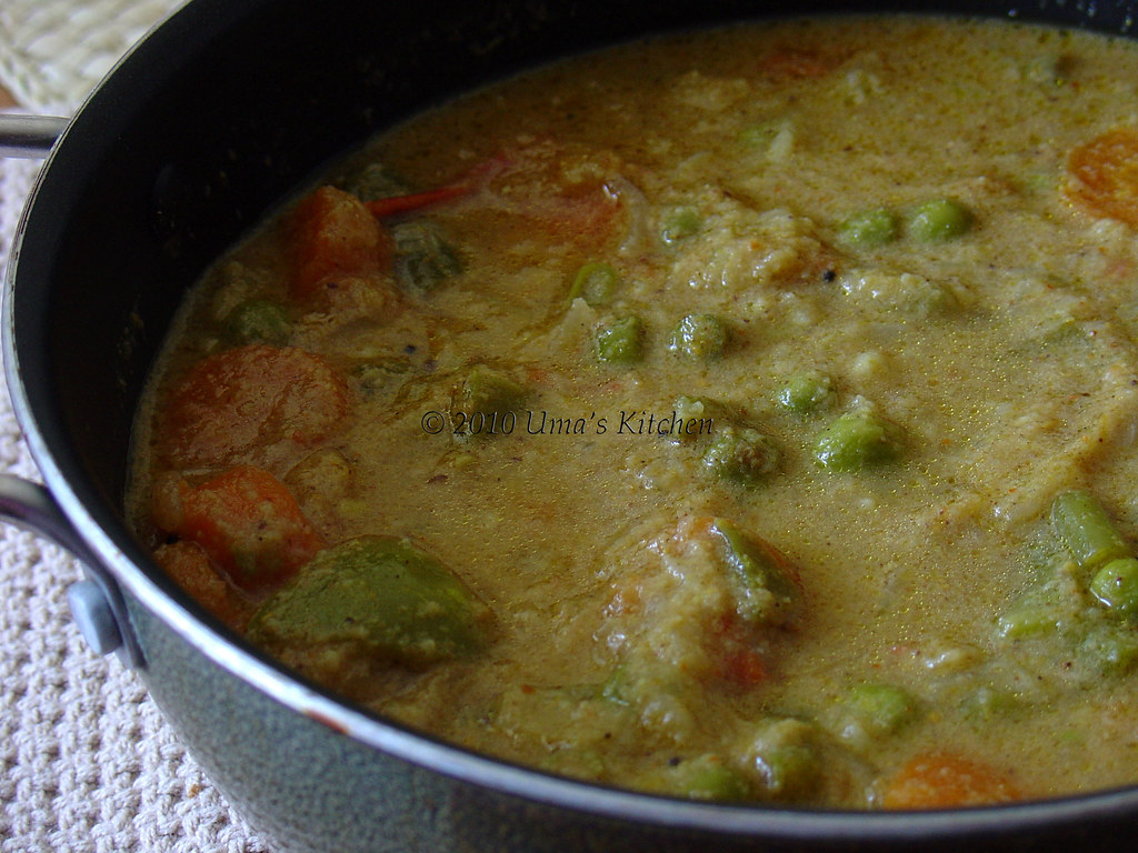 Vegetable Kurma For Chapathi Vegetable Kurma | Uma'...