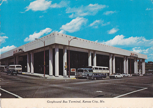 Greyhound terminal in Kansas City