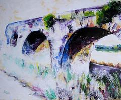La huella romana (anabelu) Tags: roma art romano acueducto arco pintura acrilico anabelu