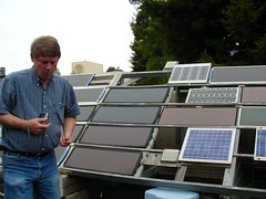 Ken and the solar testing array