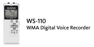 Olympus WS-110 Digital Voice Recorder