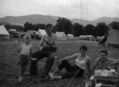 Camping at Pitlochry 1960
