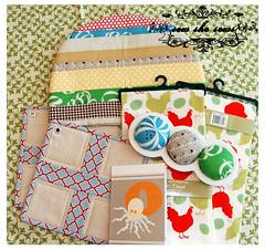 Urban Home Loot (joomoolynn) Tags: urban home coffee cozy jump tea linen katie rope goods feedsack swap towels patchwork potholders