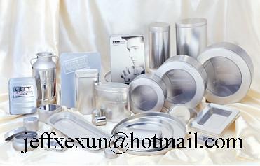 silver tin box window tin box