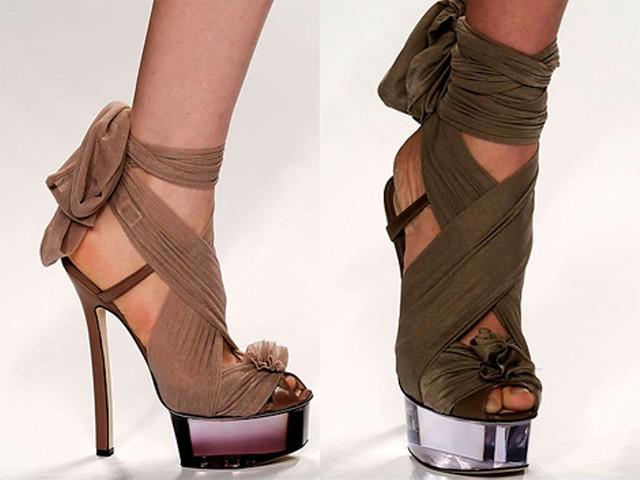 Fendi wrap heels shoes SS2010