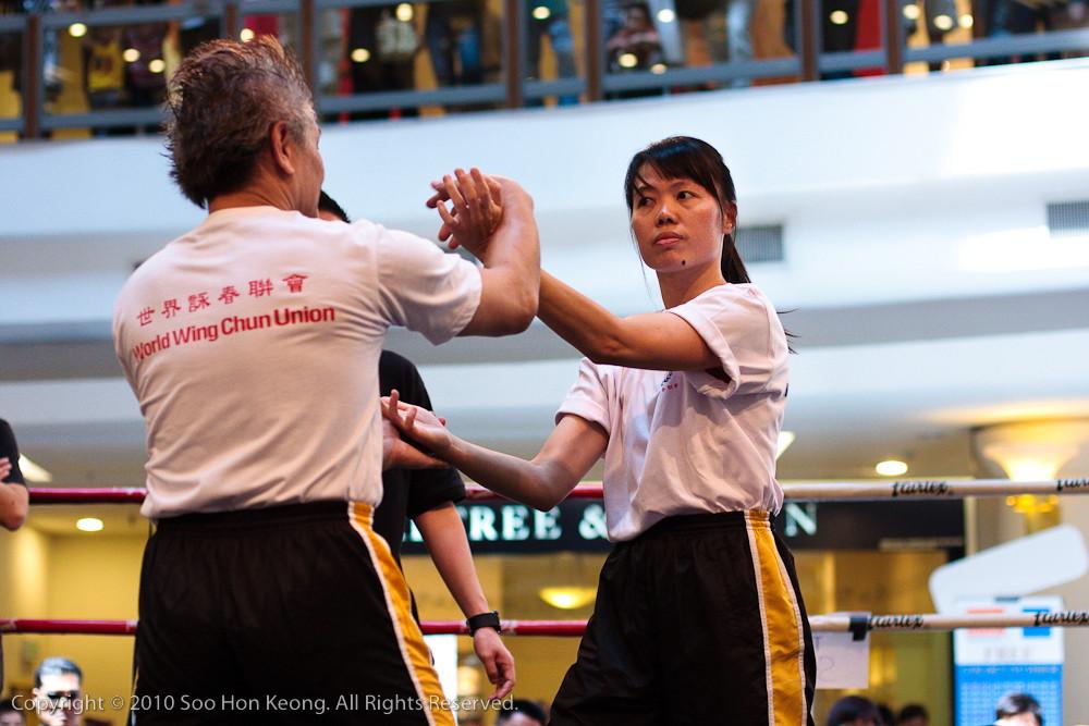 Wing Chun Fighting Demo @ 1Utama, KL, Malaysia