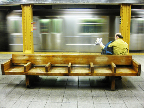 DAY 375: SUBWAY NEWSPAPER