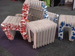 Lightweight event chairs made from direct-printed X-Board