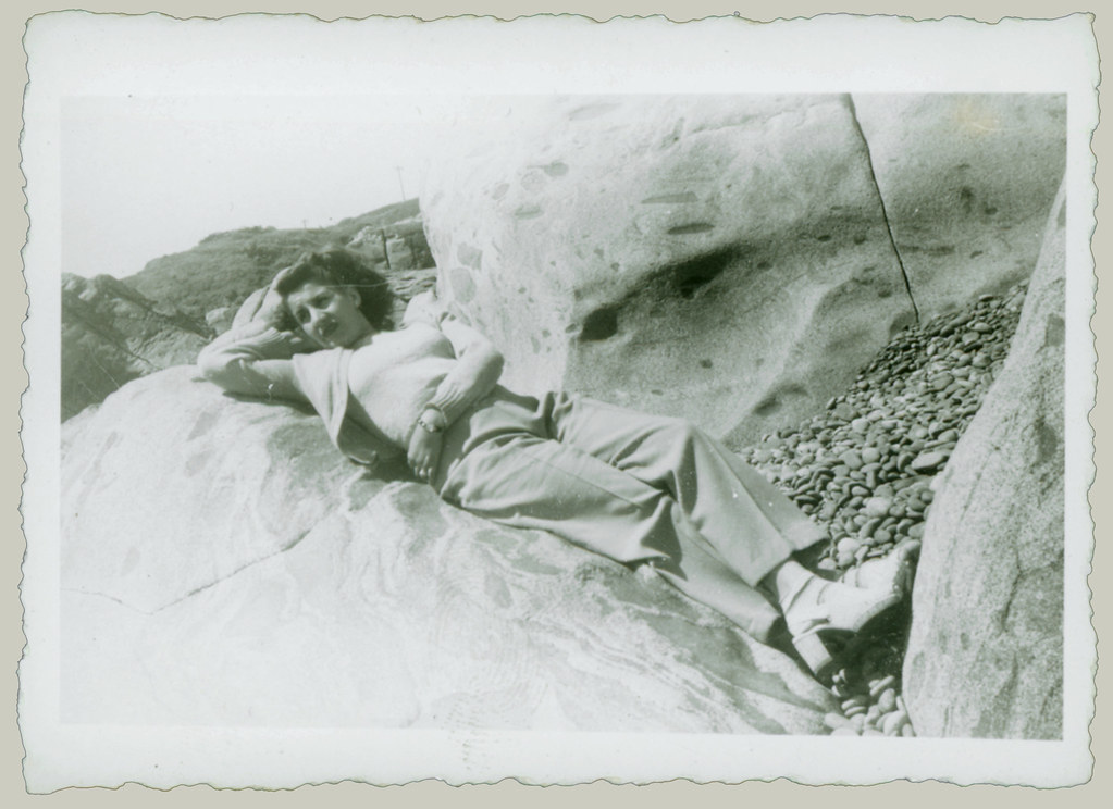 woman on the rocks