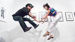 jump! (sgoralnick) Tags: show friends jump jumping kat gallery tribute jumpology philippehalsman missmareck phillp phillipckim laurencemillergallery