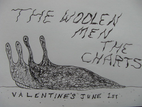 Woolen Men and Charts at Valentine's June 1st