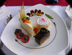 Dessert art (Roving I) Tags: china food art fruit shanghai chocolate events decoration restaurants cheesecake desserts hotels catering lindt