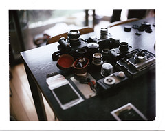 Lazy Afternoon, Toy on Table (duncanwong) Tags: leica light mamiya 35mm canon polaroid 50mm back nikon fuji voigtlander 15 universal meter ttl m3 finder m6 fm3a viewfinder 195 sonnar sekonic fp100c lhsa