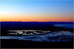 Estuary Sun Set Hill Level (Geoff Trotter) Tags: blue sunset sea newzealand christchurch colour beach nature night canon geoff estuary nighttime nz hdr photomatix 50d canterburynz 3exp canon50d geofftrotter