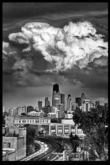 White Cloud (IC360) Tags: city blackandwhite chicago storm clouds dark illinois goldcoast ysplix newgoldenseal pinnaclephotography ic360images jimtschetter